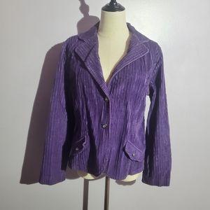 Erika purple velvet button jacket